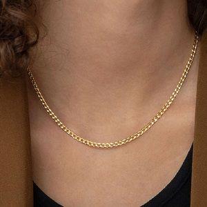 18k Gold Vermeil Curb Chain Necklace